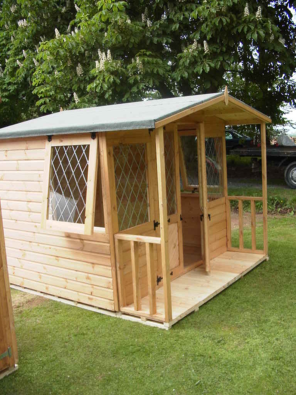 7x12 Summer House With Porch Storage Shed