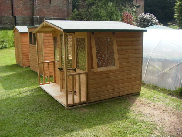 8x8 Summer House With Porch Storage Shed
