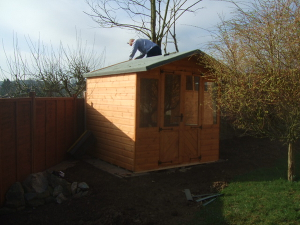 8x8 summer house without porch storage shed for Garden shed 7x6