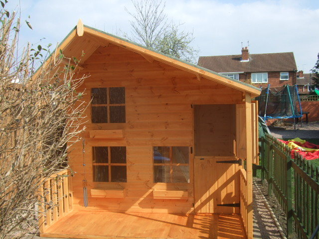 8x6 2 Tier Playhouse (With 3ft Porch)