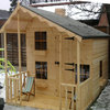 8x12 2 Tier Playhouse (With 4ft Porch)