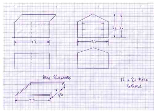 10x20 single garage garden pleasure for Garage plans uk