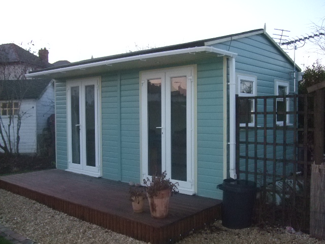 Garden office upvc storage shed for Garden office and storage