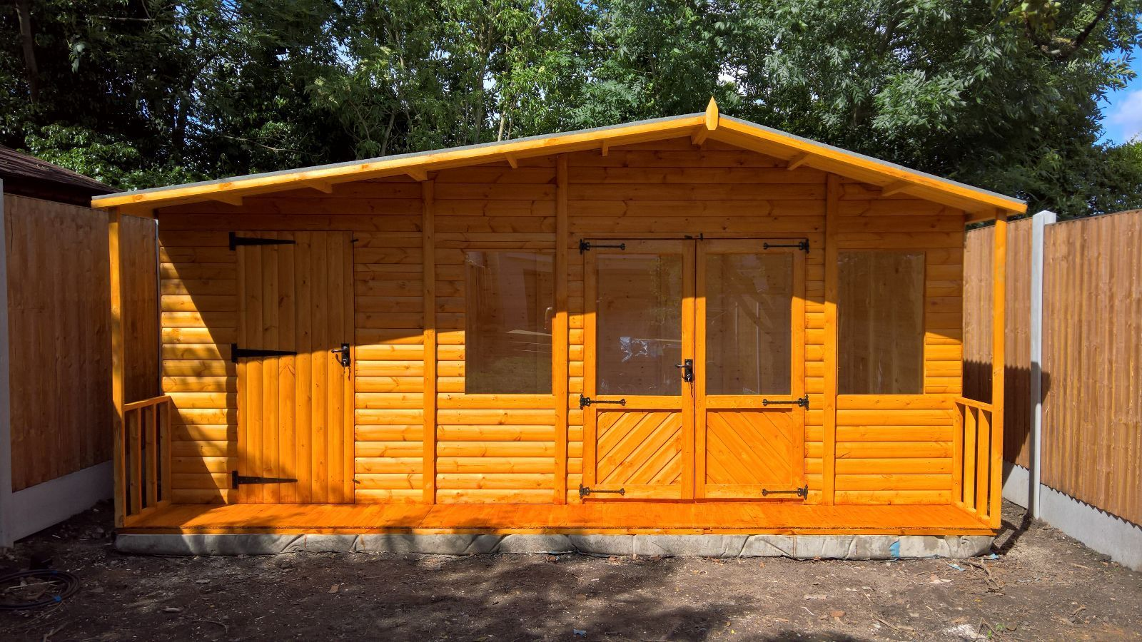 18x12 large summer house storage shed for Storage house