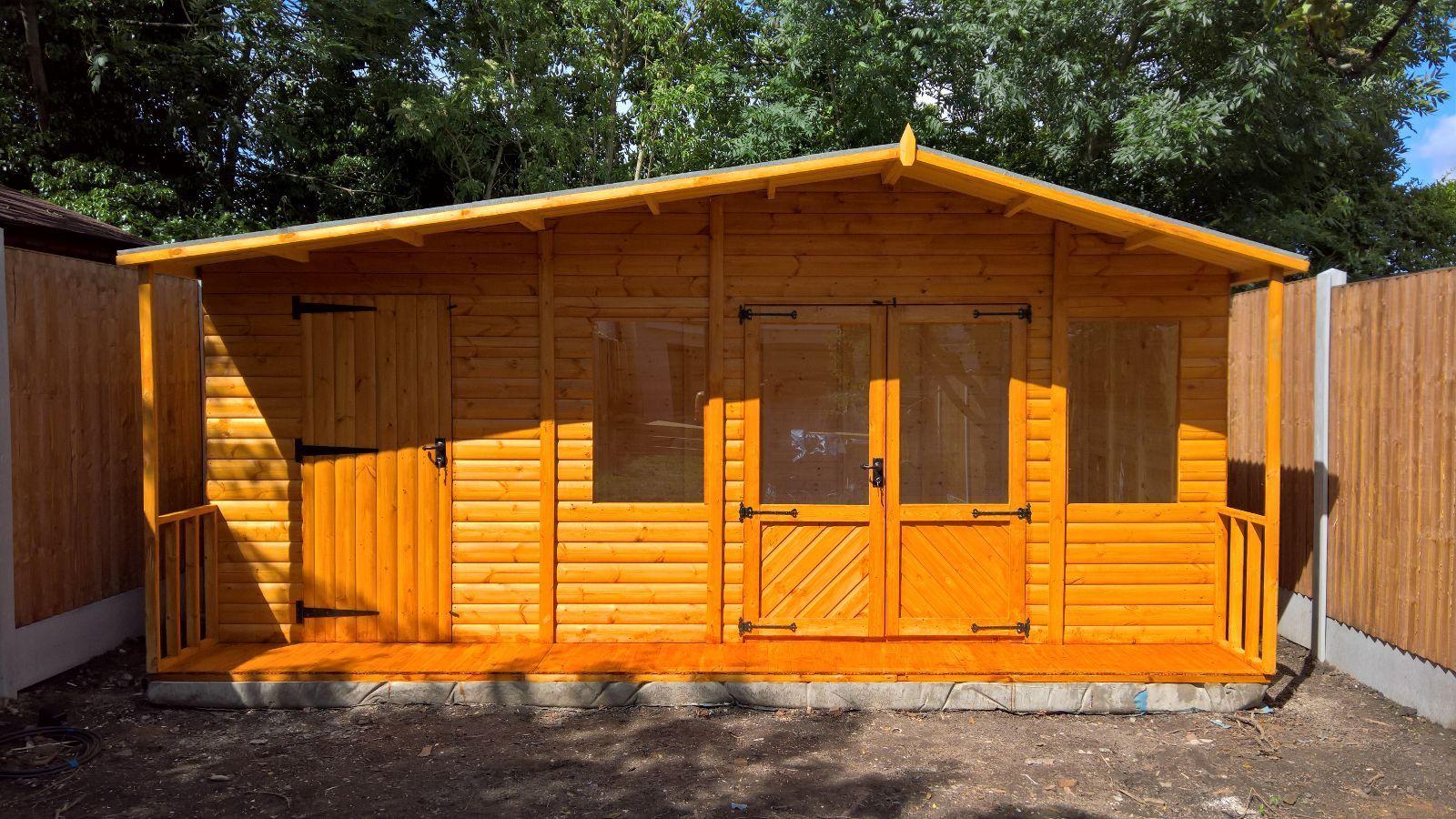 18x12 Large Summer House Storage Shed