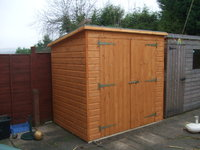 4x4 pent garden shed garden pleasure for Garden shed 4x4